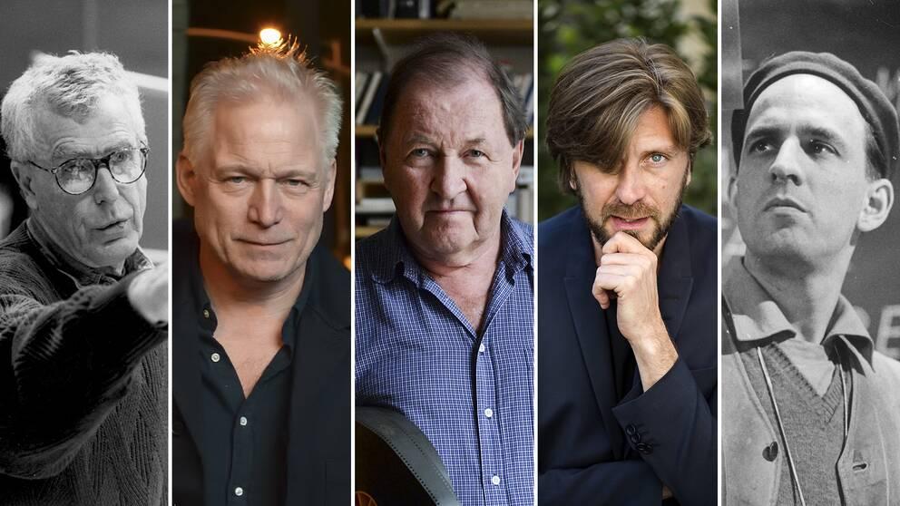 Bo Widerberg, Hannes Holm, Roy Andersson, Ruben Östlund och Ingmar Bergman.