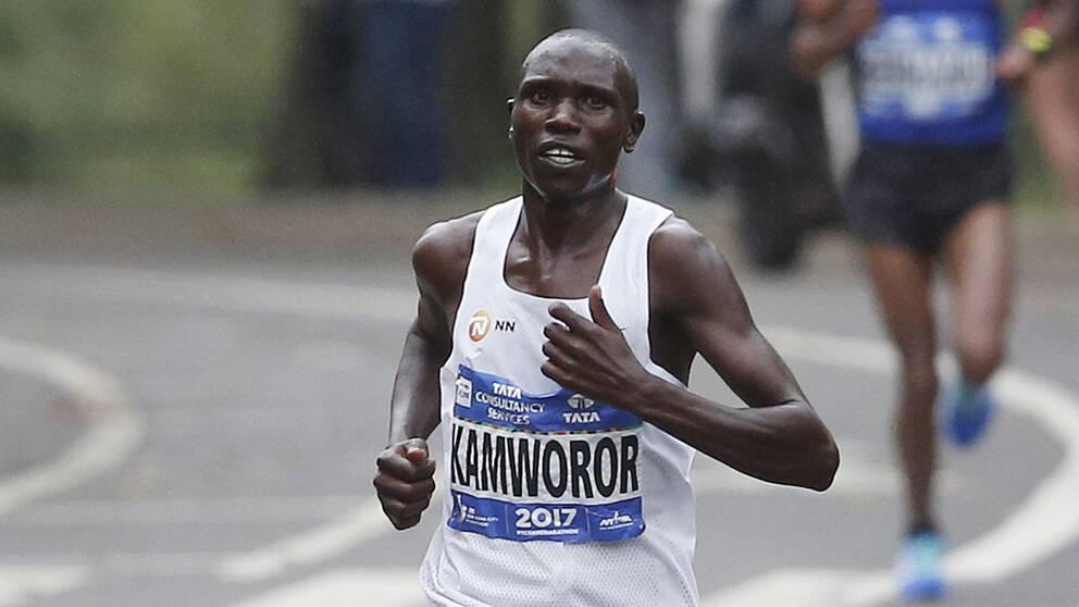 Geoffrey Kamworor satte nytt världsrekord i halvmaraton.