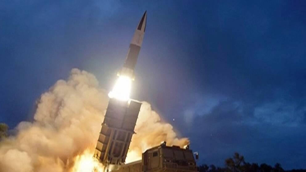 Nordkoreanskt robottest som visades i den statliga televisionen KRT den 11 augusti 2019.