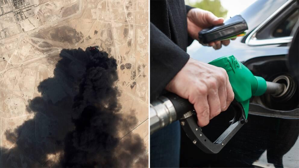Oron på oljemarknaden efter attacken i Saudiarabien behöver inte gå ut över plånboken för den som tankar.