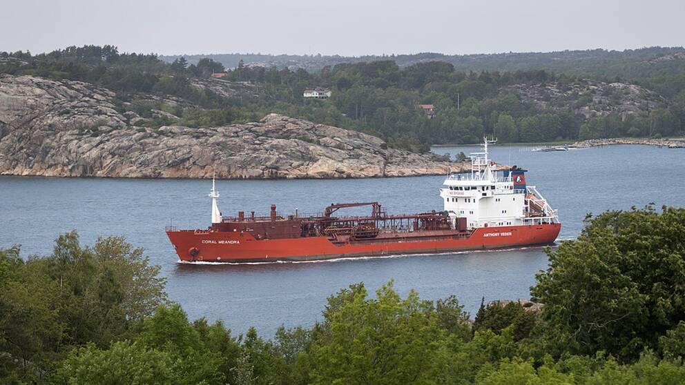 Bara en halv procent av den svenska importen av råolja kommer från Saudiarabien. 30 procent av oljan kommer från Ryssland.