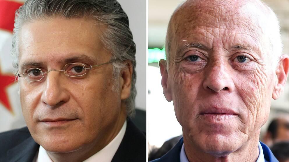 Mediemogulen Nabil Karoui och Kais Saied, professor i rättsvetenskap, går vidare till den andra omgången i det tunisiska presidentvalet, enligt landets valmyndighet.