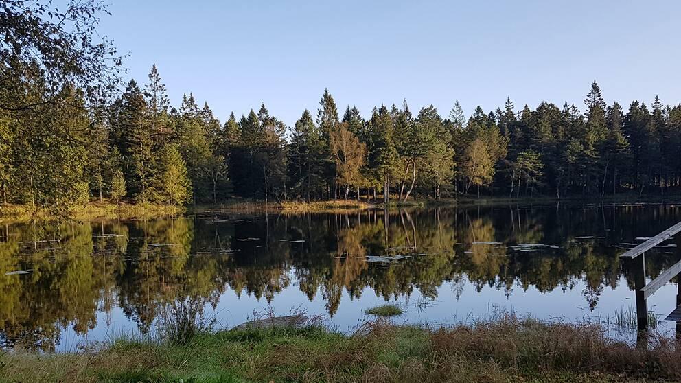 Sjö utanför Kungälv på morgonen 18/9.