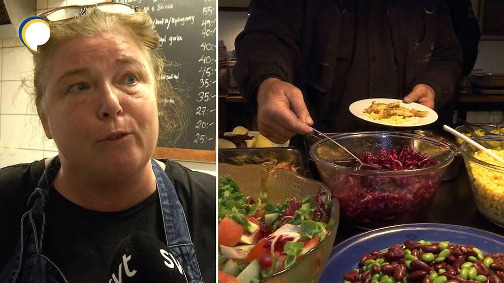 Restaurangägaren Lisa Wensberg och mat