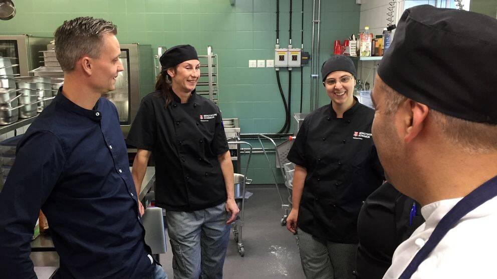 Personalen i köket på Långevi förskola.