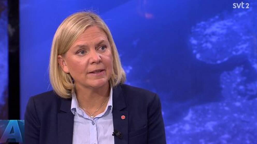 Finansminister Magdalena Andersson (S) om oppositionens kritik av regeringens budget.
