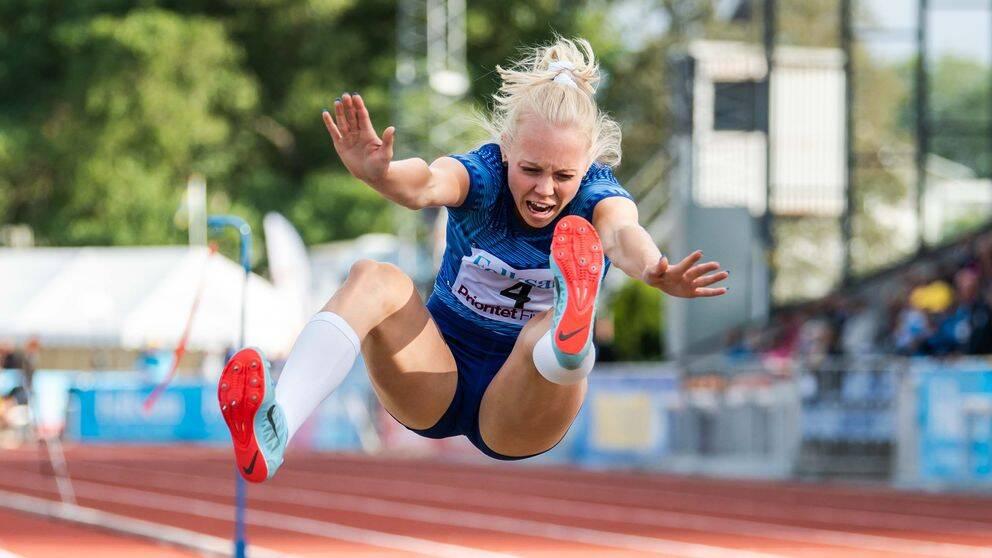 Tilde Johansson under Folksam Grand Prix den 15 juli 2019 i Varberg.