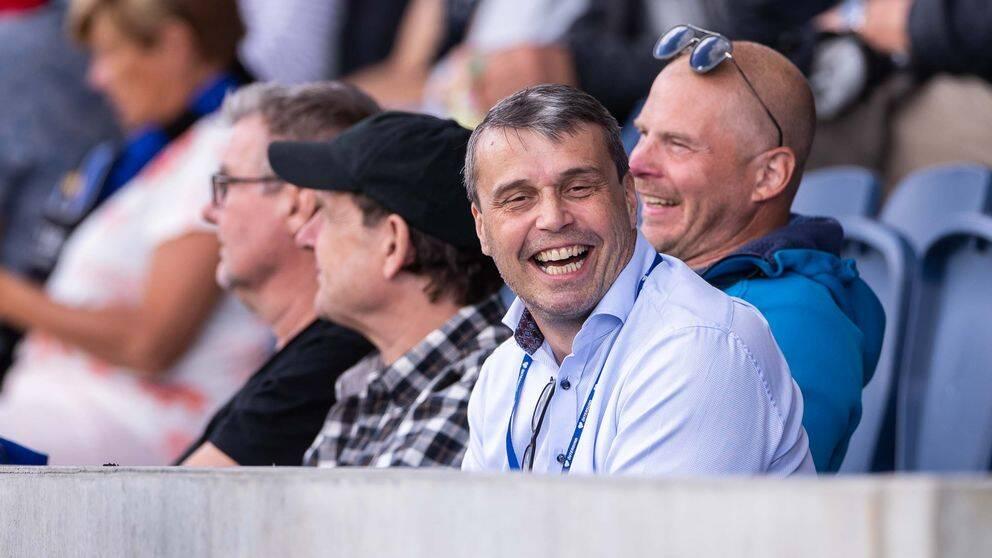 Daniel Kindberg på fotbollsmatchen i Allsvenskan mellan Sirius och Östersund.