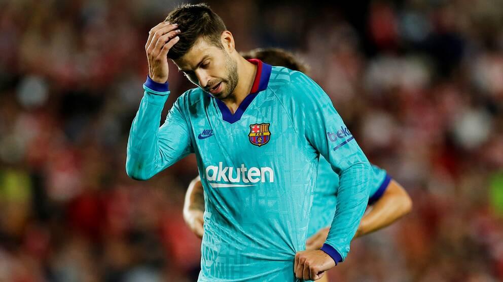 Gerard Piques Barcelona åkte på en överraskande förlust.