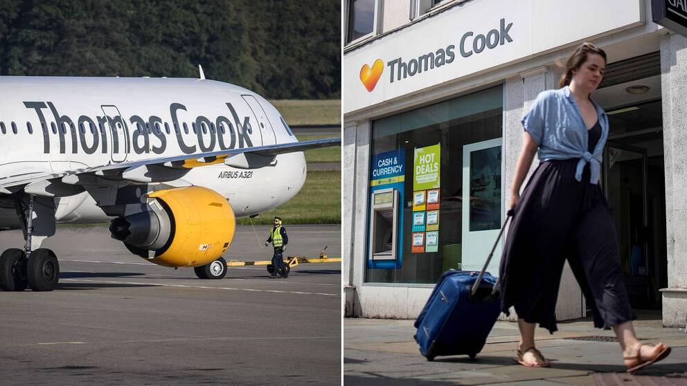 165000 kan drabbas om resejätten Thomas Cook går i konkurs