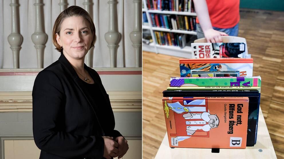 Anna Troberg menar att biblioteken får ta ett allt för stort socialt ansvar i samhället idag.
