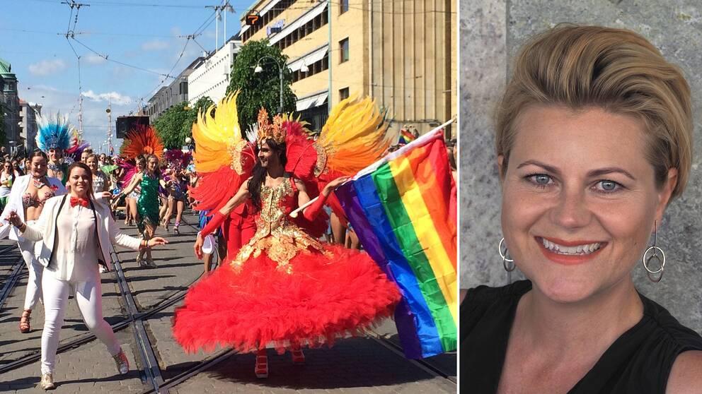 Prideparaden i Göteborg och verksamhetsansvarig för West Pride Emma Gunterberg Sachs