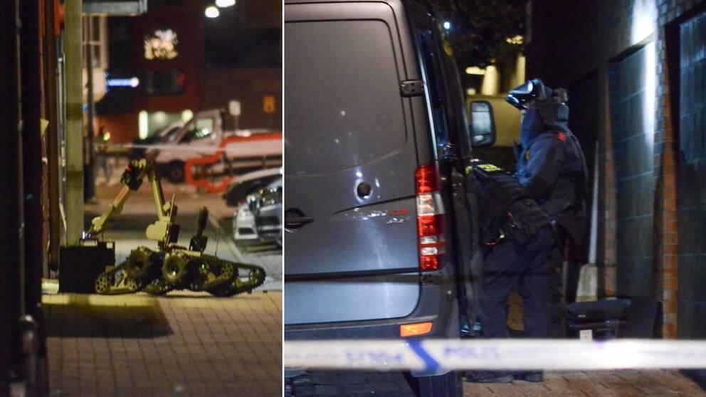 Nationella bombskyddet undersöker det odetonerade föremålet som hittades i närheten.