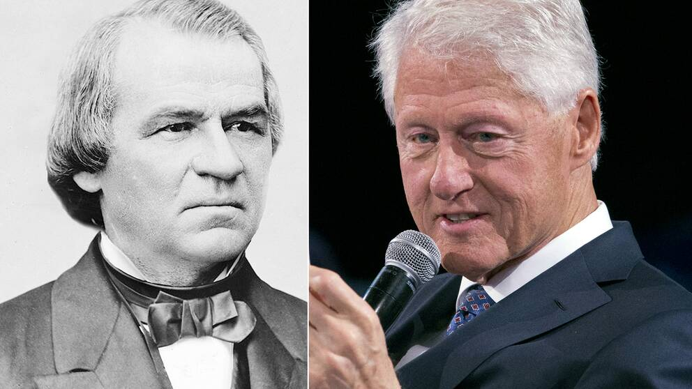 Andrew Johnson och Bill Clinton är de enda amerikanska presidenterna hittills som har ställs inför riksrätt. Richard Nixon hann avgå strax innan.