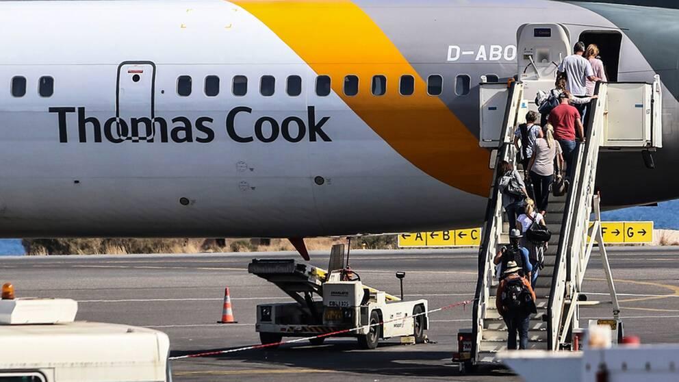 Även det tyska dotterbolaget till flygjätten Thomas Cook har begärts i konkurs, enligt tyska medier.