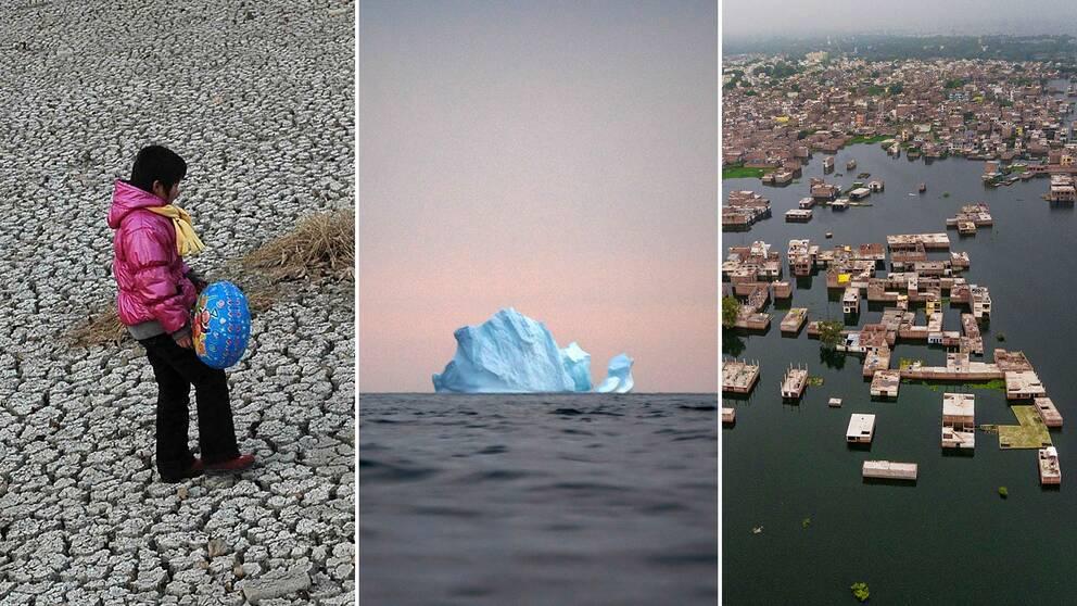 Extrem torka, smältande isberg och enorma översväningar är alla tecken på klimatförändringar