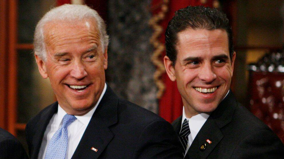 Demokraten Joe Biden och hans son, Hunter Biden.