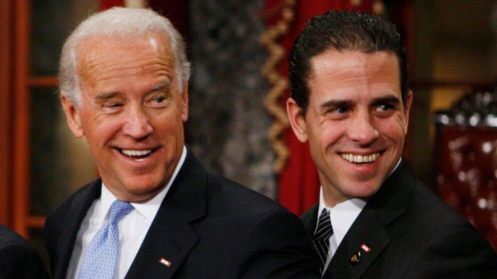Demokraten Joe Biden och hans son, Hunter Biden.