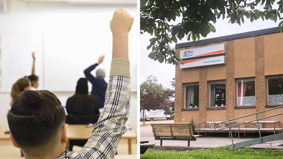 Elever räcker upp handen, Mth-skolan i hudiksvall
