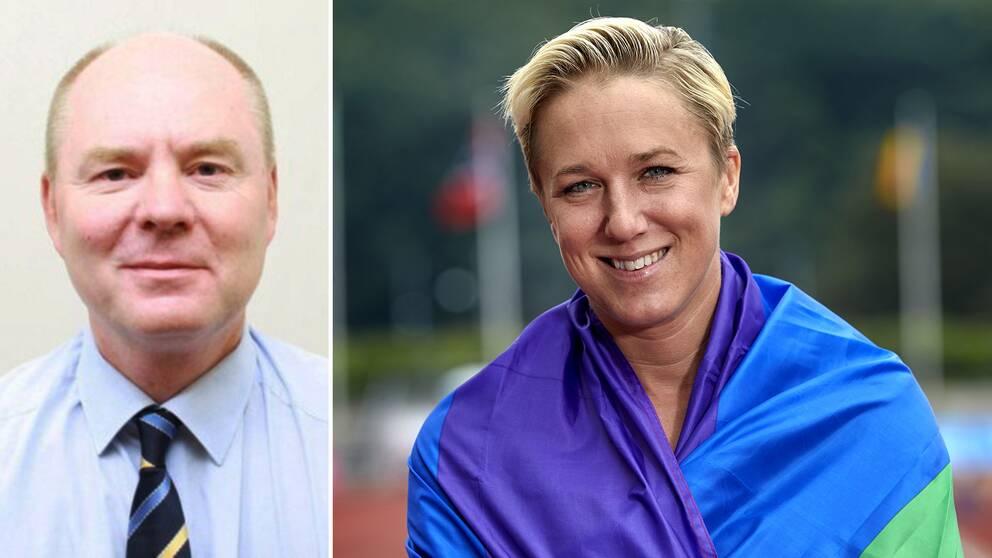 Enligt Anders Bengtcen, ny ambassadör i Qatar, kritiserar Sverige ofta lagar som diskriminerar mot homosexuella. På bilden till höger syns Kajsa Berqvist insvept i en regnbågsflagga.