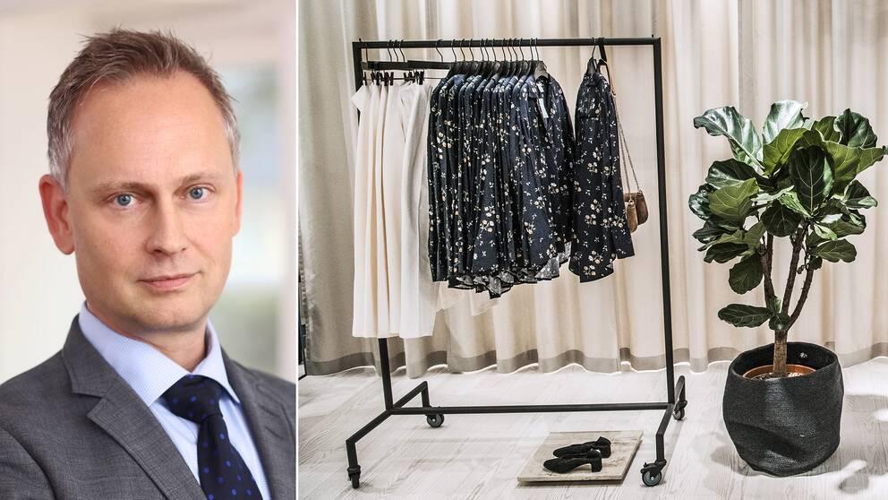Johan Davidson som är chefsekonom på Svensk handel som berättar om den svenska butiksdöden med anledning av att klädjätten Forever 21 ansökt om konkursskydd.