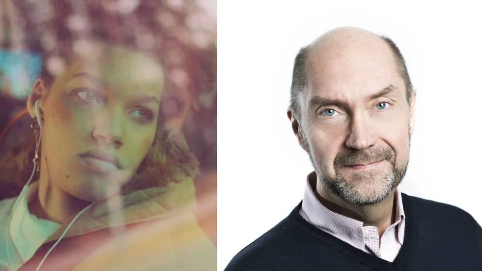 """Natalie Eriksson som medverkar i AF:s kampanj """"Gör plats"""" och Mikael Hvinlund, kommunikationsdirektör på Arbetsförmedlingen."""