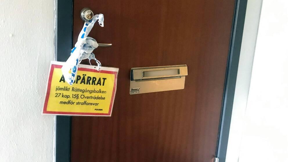 Misstänkt mord på barn i Halmstad.