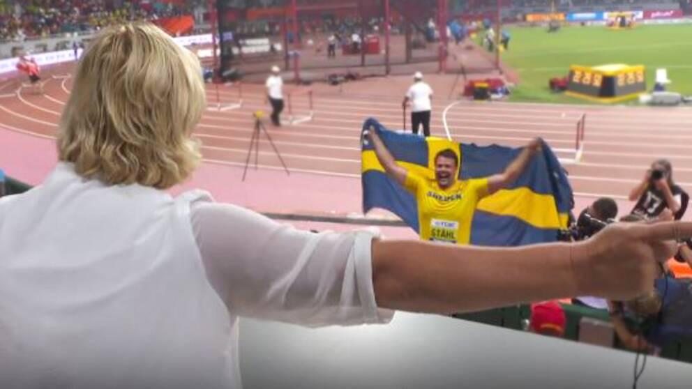 Daniel Ståhls mamma efter sonens guld.