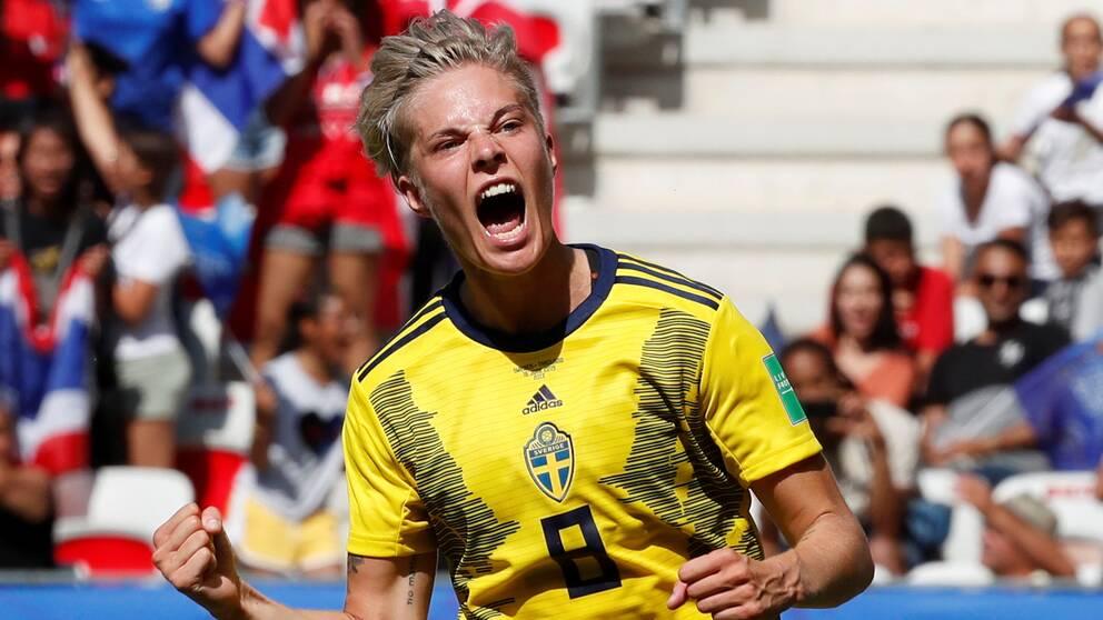 Lina Hurtig under sommarens VM i Frankrike.