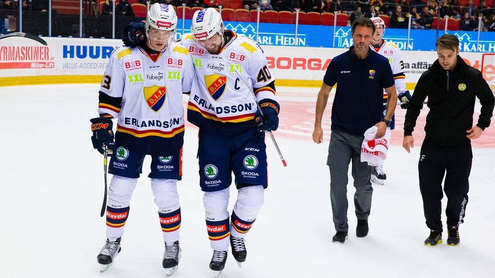 Josefsson utgick skadad mot Brynäs.
