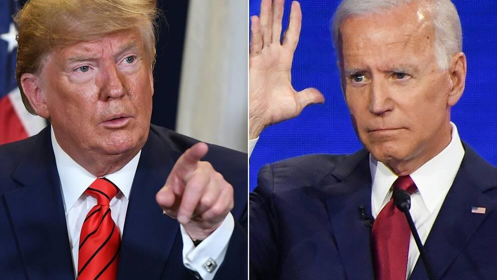 Donald Trump och Joe Biden.