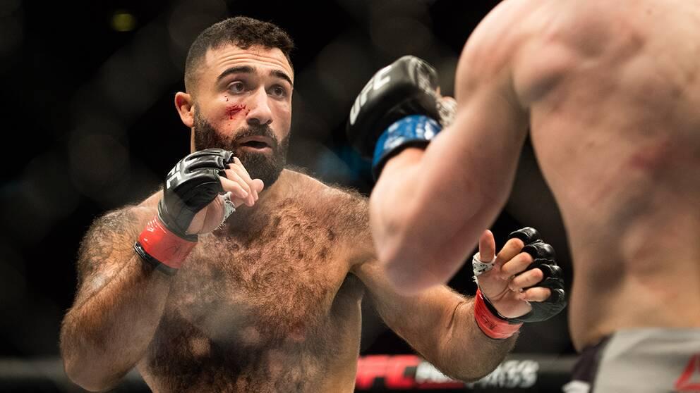 UFC-svensken Rostem Akman under galan i Globen i somras.
