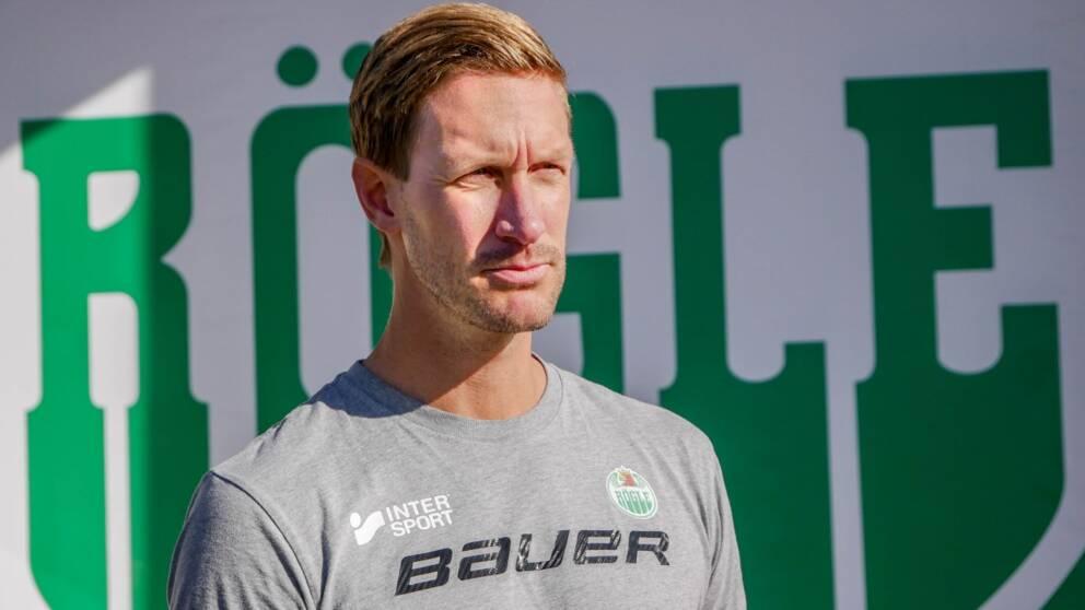 Rögles målvaktstränare Magnus Wennström utanför Catena Arena.