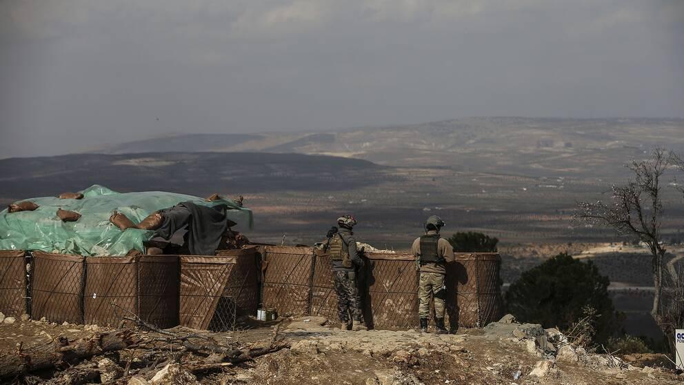 Turkiska soldater i Syrien.
