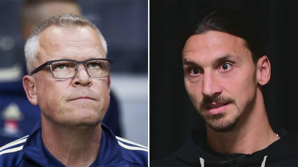 Janne Andersson och Zlatan Ibrahimovic.