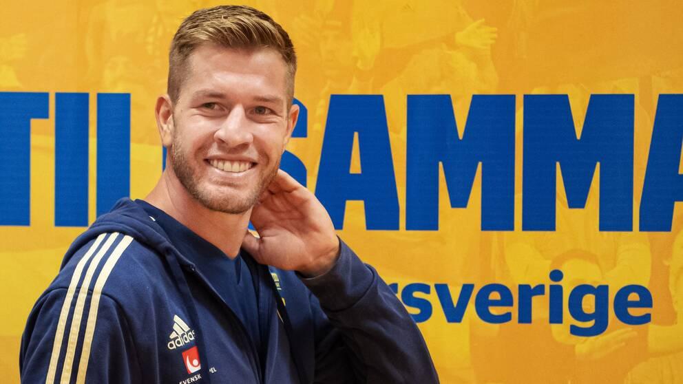 Riccardo Gagliolo gjorde sin första träning med Sverige i dag.