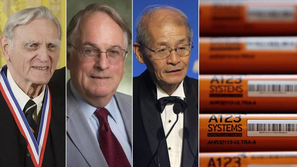 Nobelpriset i kemi 2019 går till John B. Goodenough, M. Stanley Whittingham och Akira Yoshino för utvecklingen av laddbara litiumjonbatterier.