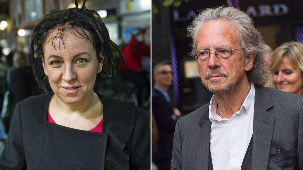 Olga Tokarczuk och Peter Handke, 2018 och 2019 års litteraturpristagare