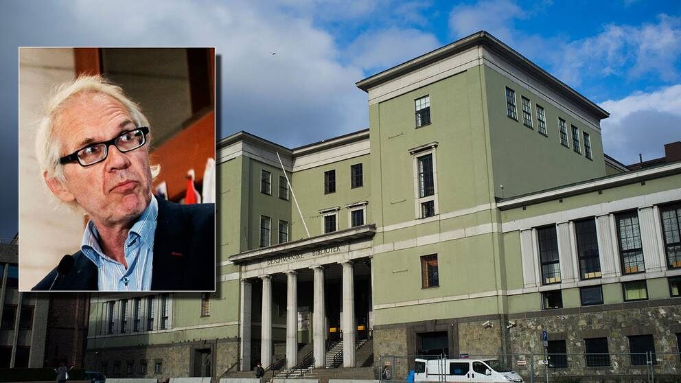 Konstnären Lars Vilks gästar Deichmanske bibliotek i Oslo.
