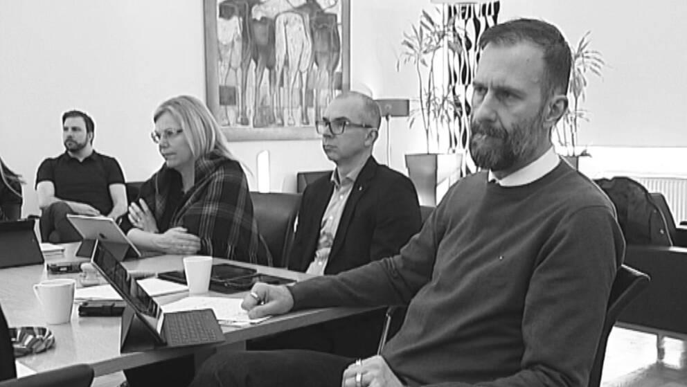 Lenita Ericsson (S), Niklas Nordström (S) och förre kommundirektören Mikael Lekfalk.