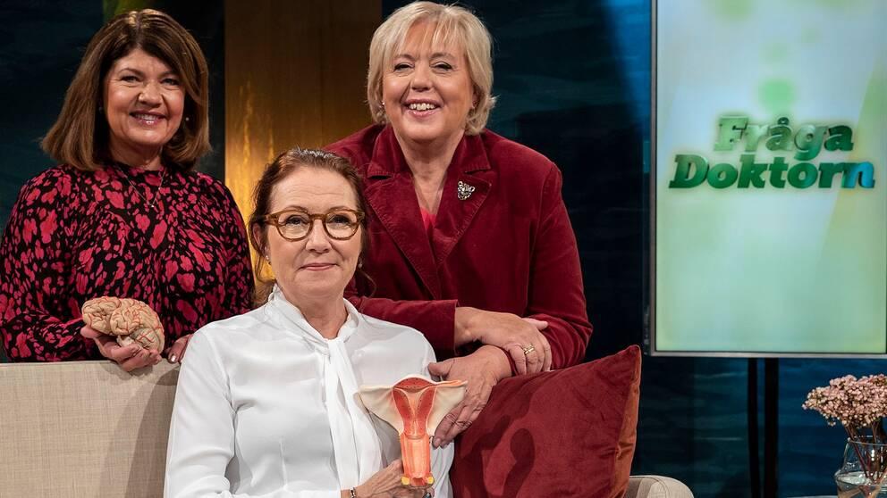 Karin Granberg, Suzanne Axell och professor i Gynekologi Marie Bixo.