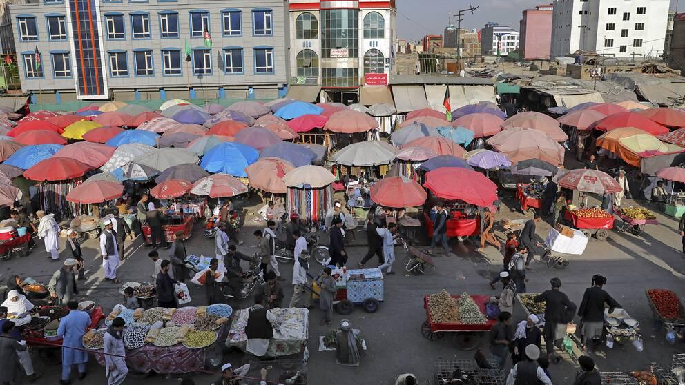 En marknad i Kabul.