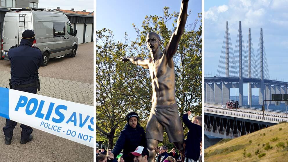 Misstänkt dubbelmord i Arlöv, Zlatans staty invigdes och Danmark inför gränskontroller mot Sverige är några av veckans nyheter från Skåne.