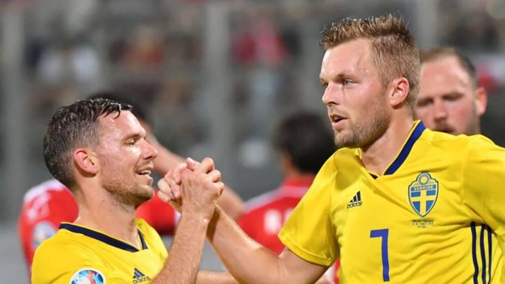 Sebastian Larsson efter sitt 2-0-mål mot Malta.