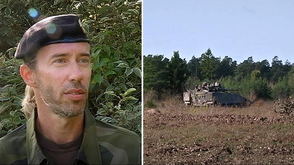 Tomas Ängshammar, kommunikationschef på Gotlands regemente P18.