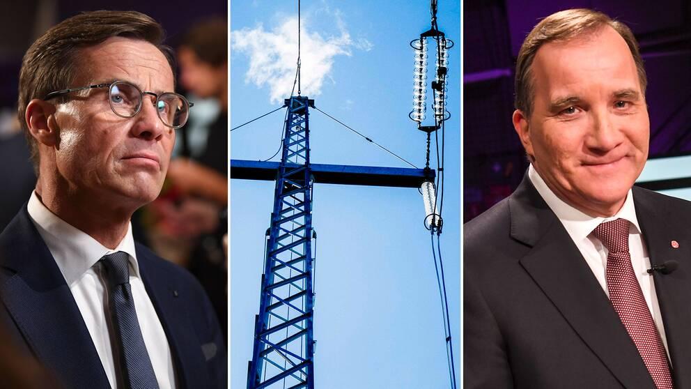 Ulf Kristersson (M) och Stefan Löfven (S) debatterade elbrist i partiledardebatten