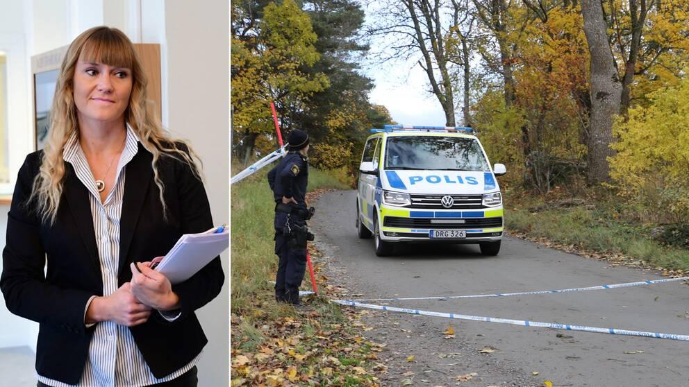 Therese Stensson är åklagare i fallet där en person hittades mördad i Ledinge i Knivsta kommun.