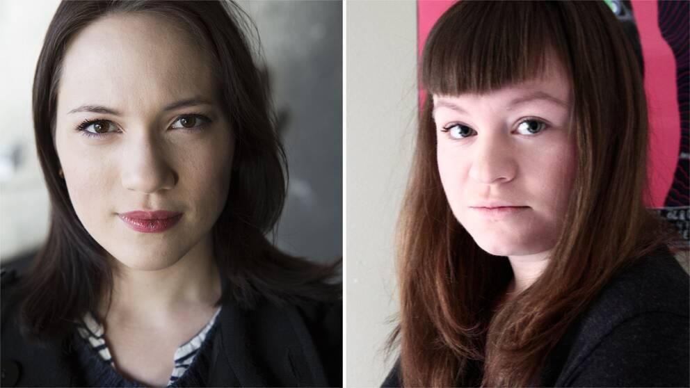 """""""Jag gör allt jag kan för att inte kritisera män som kön, utan mer den mansdominerade branschen. Men personer tar väldigt illa vid sig personligen"""", säger spelskribenten Kerstin Alex (till vänster). Till höger: Emma Kujansuu."""