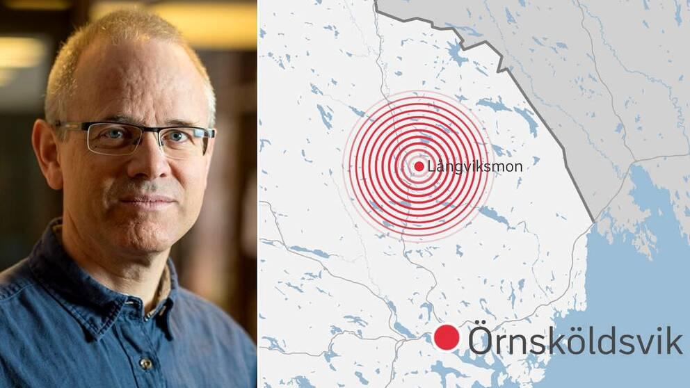 Björn Lund, seismolog vid Uppsala universitet.