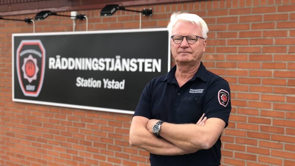 Räddningschef Mats Svensson vid sydöstra Skånes räddningstjänst.